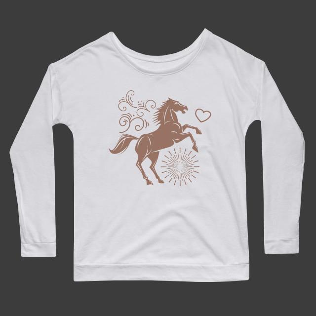 Artsy horse illustration Women's Long Sleeve T-Shirt