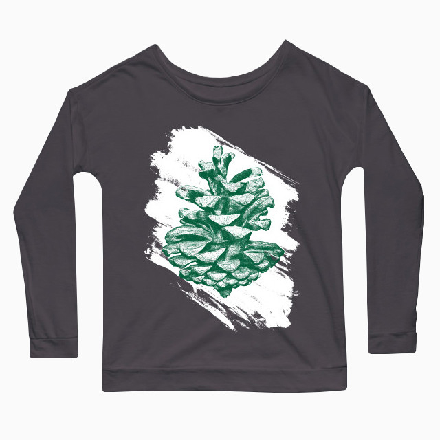 Artsy pine cone Women's Long Sleeve T-Shirt
