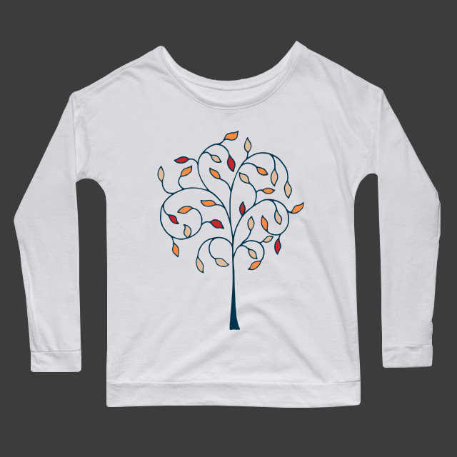 Artsy tree drawing Women's Long Sleeve T-Shirt