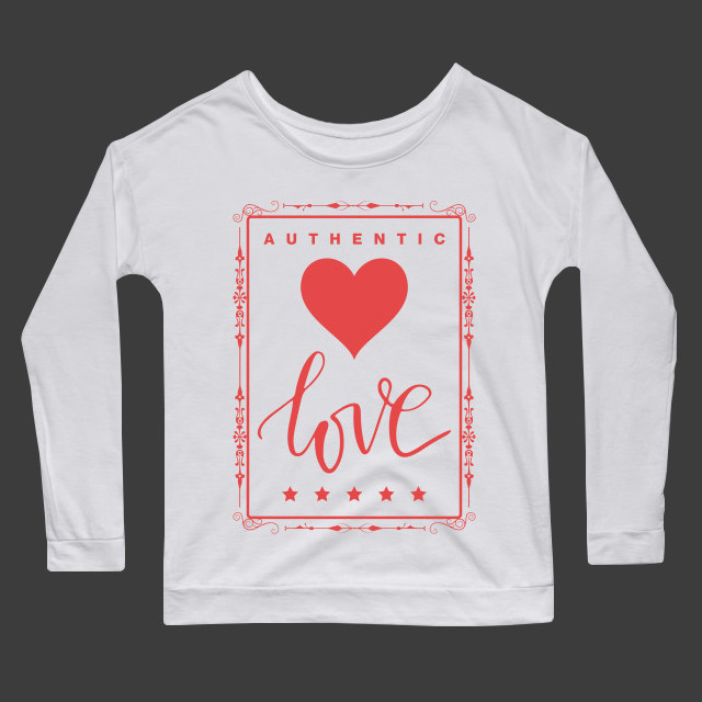 Authentic love Women's Long Sleeve T-Shirt
