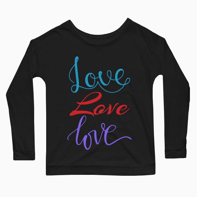 Colourful love Women's Long Sleeve T-Shirt