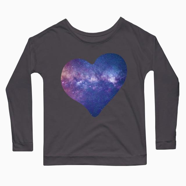 Galaxy heart Women's Long Sleeve T-Shirt