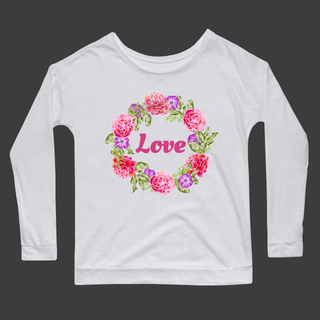 Love flowers Women's Long Sleeve T-Shirt