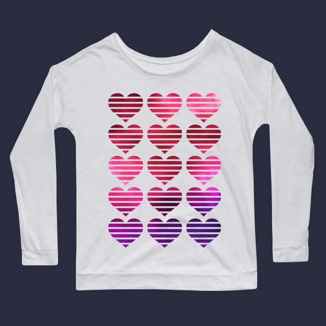 Mixed media hearts Women's Long Sleeve T-Shirt
