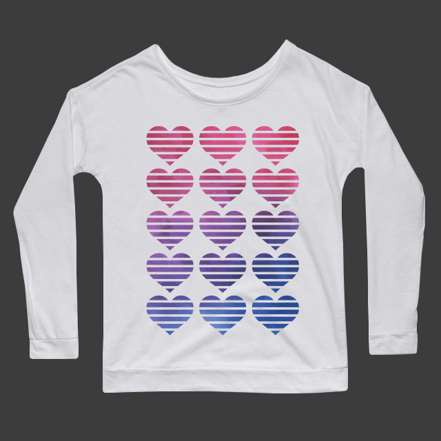 Pop art hearts Women's Long Sleeve T-Shirt